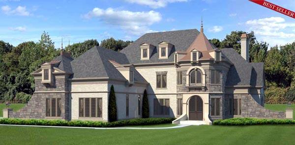 Greek Revival , Victorian House Plan 72083 with 4 Beds, 4 Baths, 3 Car Garage Elevation
