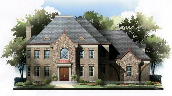 European House Plan 72085 Elevation