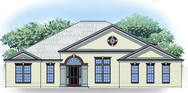Traditional House Plan 72087 with 3 Beds, 2 Baths, 2 Car Garage Elevation