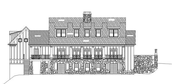 Cape Cod House Plan 72089 Rear Elevation