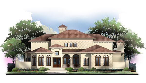 Greek Revival Mediterranean House Plan 72094 Elevation