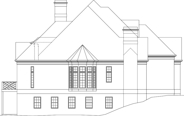 European, Greek Revival House Plan 72096 with 5 Beds, 5 Baths, 3 Car Garage Picture 2
