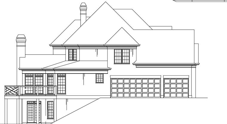 Greek Revival, Traditional House Plan 72097 with 4 Beds, 4 Baths, 3 Car Garage Picture 1