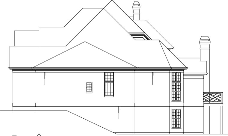 Greek Revival, Traditional House Plan 72097 with 4 Beds, 4 Baths, 3 Car Garage Picture 2