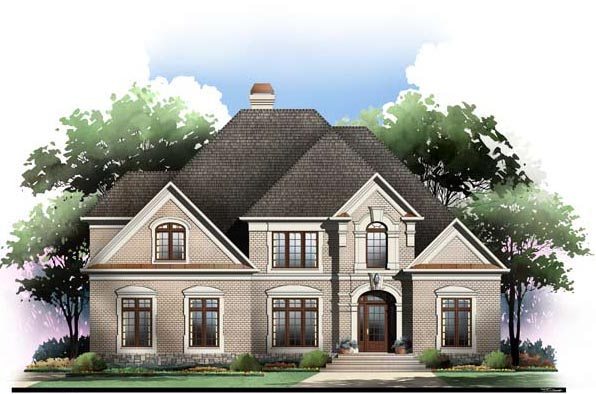 Greek Revival, Traditional House Plan 72097 with 4 Beds, 4 Baths, 3 Car Garage Picture 3