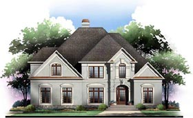 Greek Revival Traditional House Plan 72099 Elevation