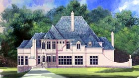 European Greek Revival Victorian House Plan 72103 Elevation