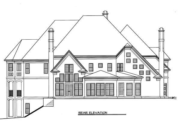 European Greek Revival House Plan 72104 Rear Elevation