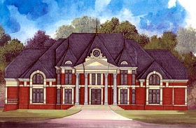 European Greek Revival House Plan 72106 Elevation