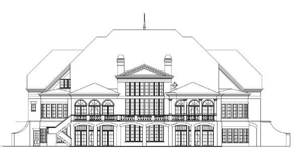 European Greek Revival House Plan 72106 Rear Elevation