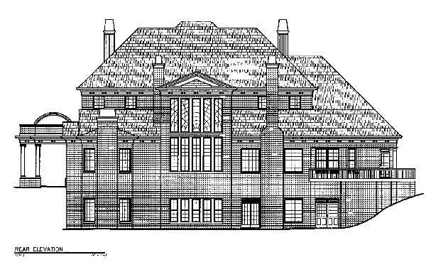 Greek Revival House Plan 72107 Rear Elevation