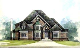 House Plan 72110 | European Greek Revival Style Plan with 3706 Sq Ft, 4 Bedrooms, 4 Bathrooms, 3 Car Garage Elevation
