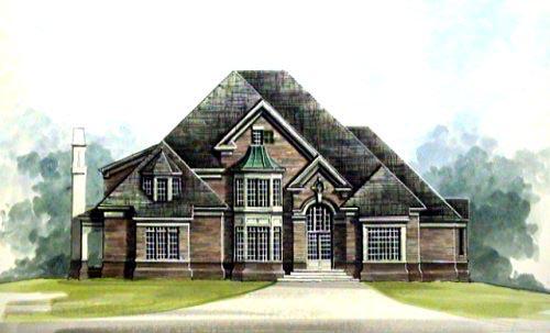 European Greek Revival House Plan 72110 Elevation