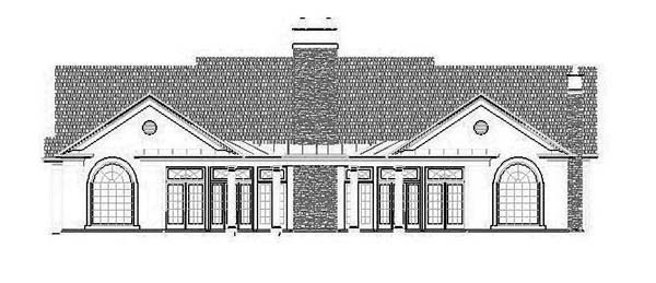 House Plan 72112 Rear Elevation