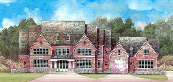 European, Greek Revival House Plan 72115 with 4 Beds, 5 Baths, 4 Car Garage Elevation