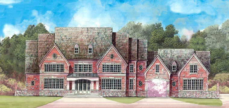 European, Greek Revival House Plan 72115 with 4 Beds, 5 Baths, 4 Car Garage Picture 11
