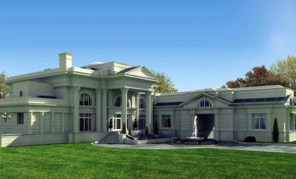 Colonial Greek Revival House Plan 72116 Elevation