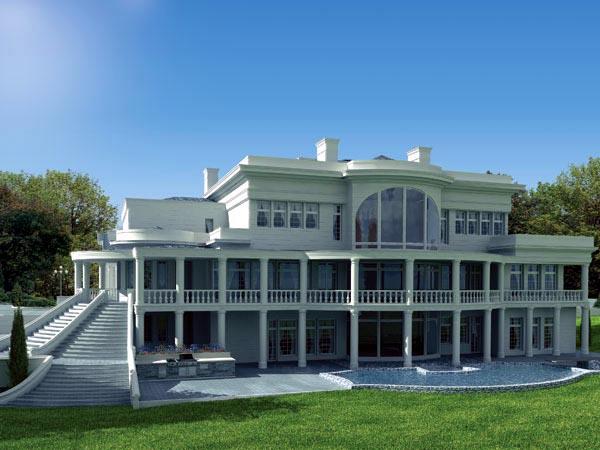 Colonial Greek Revival House Plan 72116 Rear Elevation