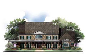 House Plan 72117 | European Greek Revival Style Plan with 4605 Sq Ft, 6 Bedrooms, 7 Bathrooms, 3 Car Garage Elevation