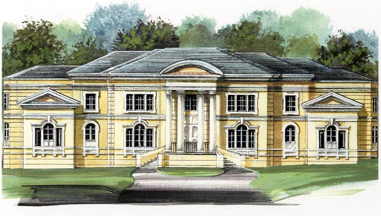 Colonial Greek Revival House Plan 72118