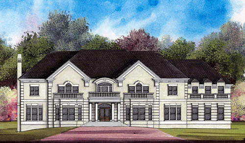 Greek Revival , Colonial House Plan 72120 with 5 Beds, 5 Baths, 3 Car Garage Elevation