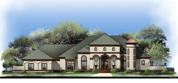 European, Greek Revival House Plan 72122 with 5 Beds, 4 Baths, 4 Car Garage Front Elevation