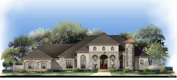 European, Greek Revival House Plan 72122 with 5 Beds, 4 Baths, 4 Car Garage Picture 1
