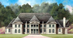 Colonial Greek Revival House Plan 72123 Elevation