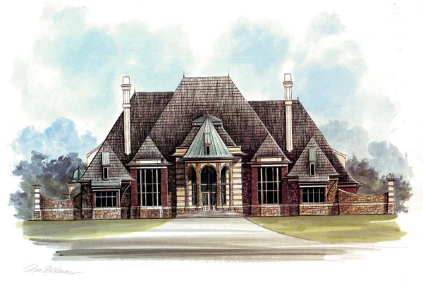 Greek Revival, Victorian House Plan 72125 with 3 Beds, 5 Baths, 3 Car Garage Elevation