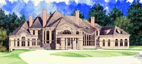 Colonial , Greek Revival House Plan 72129 with 5 Beds, 5 Baths, 4 Car Garage Elevation