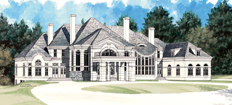 Colonial Greek Revival House Plan 72129