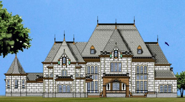 European House Plan 72133 with 6 Beds , 8 Baths , 4 Car Garage Elevation