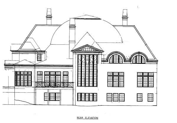 Greek Revival House Plan 72134 Rear Elevation