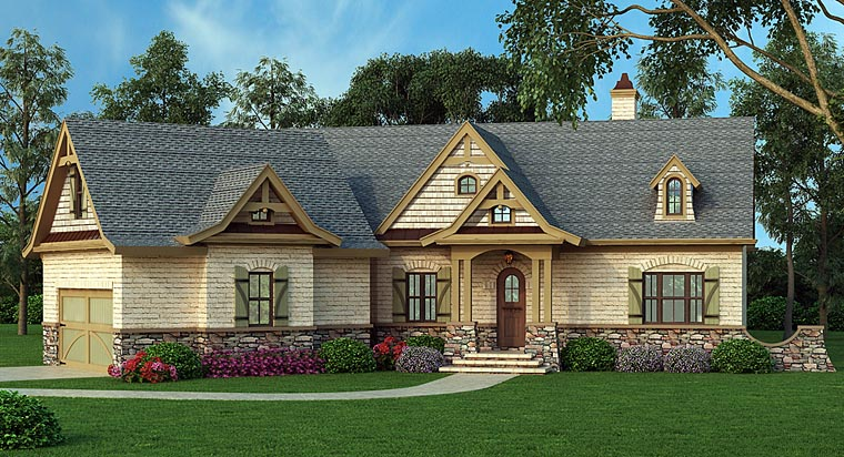 House Plan 72136 | Style Plan with 2404 Sq Ft, 3 Bedrooms, 3 Bathrooms, 2 Car Garage Elevation