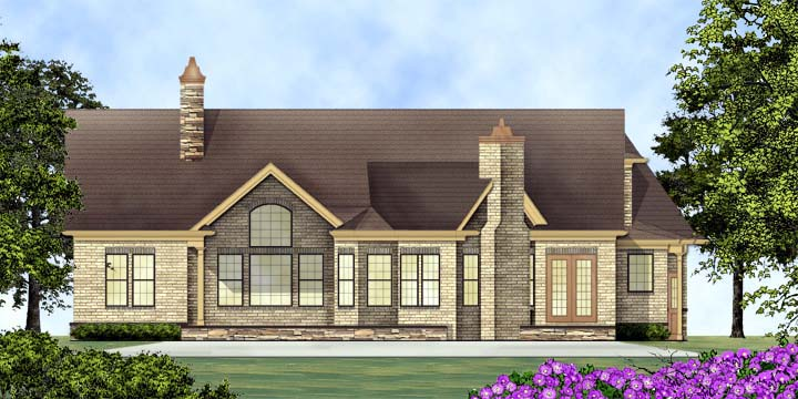 House Plan 72136 | Style Plan with 2404 Sq Ft, 3 Bedrooms, 3 Bathrooms, 2 Car Garage Rear Elevation