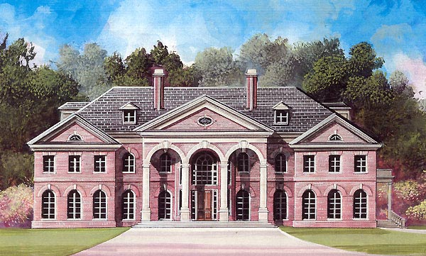Colonial Greek Revival House Plan 72138 Elevation