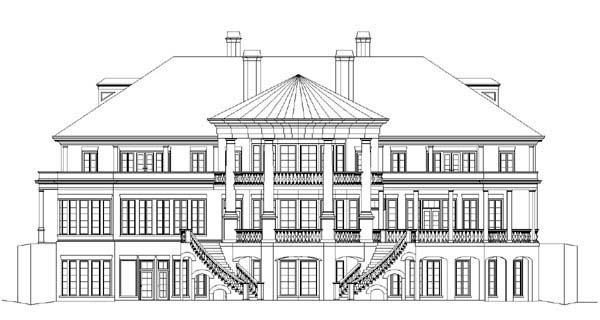 Colonial Greek Revival House Plan 72138 Rear Elevation