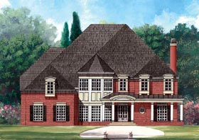 Greek Revival , Traditional House Plan 72139 with 5 Beds, 5 Baths, 3 Car Garage Elevation