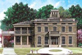 Colonial Greek Revival House Plan 72141 Elevation