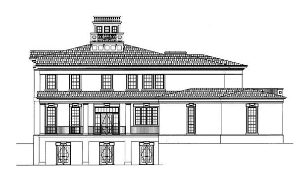 Colonial Greek Revival House Plan 72141 Rear Elevation