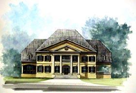 Colonial Greek Revival House Plan 72142 Elevation