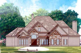 Contemporary , Greek Revival House Plan 72146 with 3 Beds, 4 Baths, 3 Car Garage Elevation