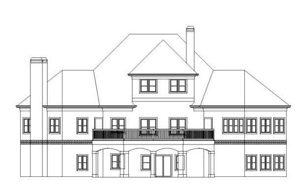 Contemporary Greek Revival House Plan 72146 Rear Elevation