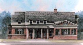 Colonial Greek Revival House Plan 72147 Elevation