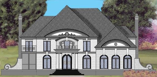 House Plan 72148 | European Greek Revival Style Plan with 5115 Sq Ft, 5 Bedrooms, 5 Bathrooms, 3 Car Garage Elevation