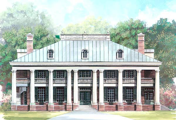 House plan 72149 at for Greek revival home plans