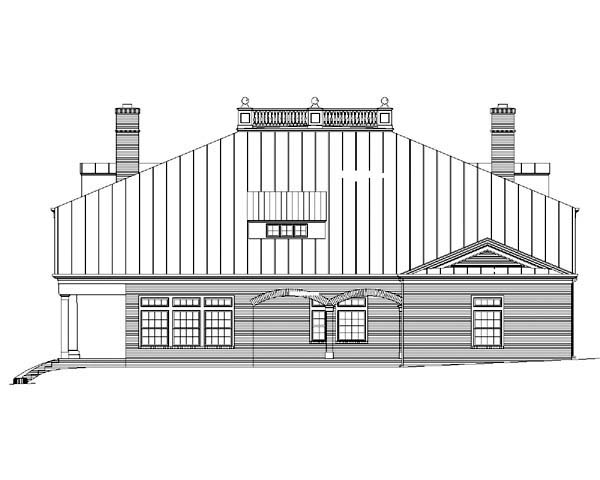 House Plan 72149 | Colonial Greek Revival Plantation Style Plan with 4969 Sq Ft, 3 Bedrooms, 4 Bathrooms, 4 Car Garage Rear Elevation