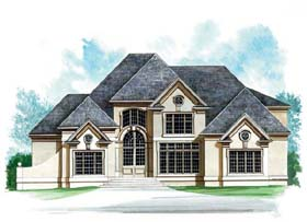 European , Greek Revival House Plan 72150 with 4 Beds, 6 Baths, 2 Car Garage Elevation