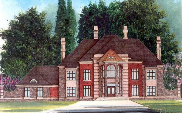 Greek Revival House Plan 72151 Elevation