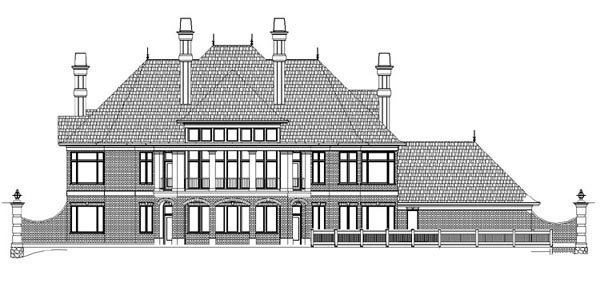 Greek Revival House Plan 72151 Rear Elevation